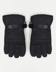 Черные горнолыжные перчатки Consigned-Черный цвет