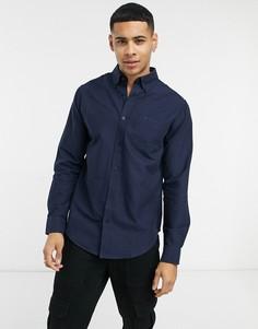 Оксфордская рубашка с длинными рукавами Ben Sherman-Темно-синий
