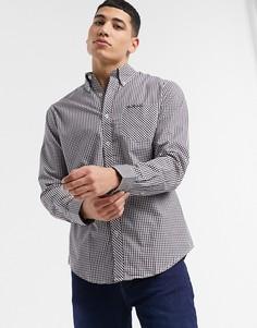 Рубашка в клетку с длинными рукавами Ben Sherman-Красный