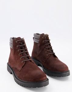 Походные ботинки воскового коричневого цвета H by Hudson-Коричневый цвет