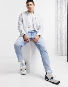 Оксфордская рубашка в полоску с длинными рукавами Ben Sherman-Голубой