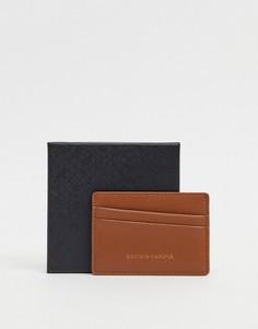 Коричневая кредитница с диагональным дизайном Smith & Canova-Светло-коричневый
