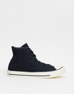 Высокие черные кроссовки из замши с подкладкой из искусственного меха Converse Cosy club Chuck Taylor-Черный