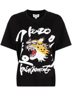 Kenzo футболка с логотипом из коллаборации с Kansaiyamamoto
