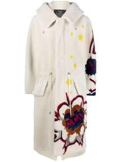 Mr & Mrs Italy пальто с кулиской и цветочным принтом