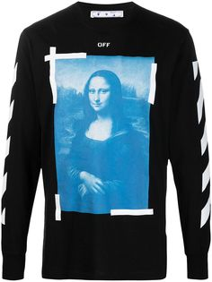 Off-White футболка Mona Lisa с длинными рукавами