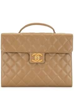 Chanel Pre-Owned стеганый портфель 1995-го года с логотипом CC