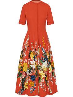 Oscar de la Renta коктейльное платье с короткими рукавами