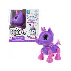 Игрушка интерактивная 1TOY Robo Pets Робо-единорог mini, фиолетовый