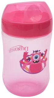Чашка-непроливайка Dr. Brown's с мягким носиком и откидывающейся крышкой розовая 270 мл