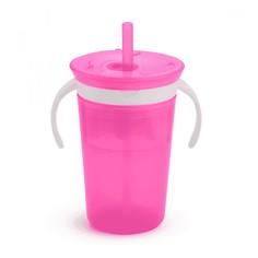 Набор 2 в 1 Munchkin Поймай печенье и поильник snackcatch & sipс трубочкой розовый