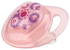 Соска-пустышка Nuby силиконовая 6м+ розовый