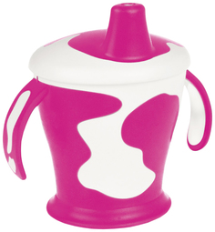 Чашка-непроливайка с ручками Canpol 31/404 Little cow 9м+ 250 мл фиолетовый