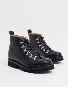 Черные кожаные походные ботинки Grenson-Черный