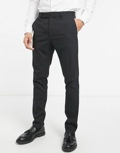 Черные зауженные брюки ASOS DESIGN-Черный цвет