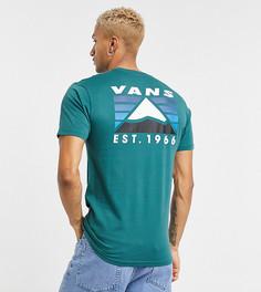 Зеленая футболка с принтом горы на спине Vans – эксклюзивно для ASOS-Зеленый цвет