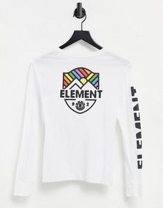 Белый лонгслив Element Beamin