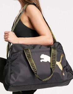 Черная спортивная сумка PUMA-Черный цвет