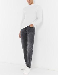 Выбеленные суженные книзу джинсы черного цвета Levis 502-Черный цвет Levis®