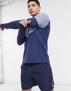 Синий лонгслив Nike Running Run Division-Голубой