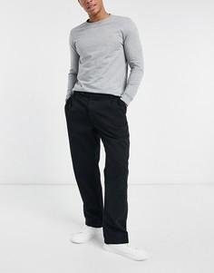 Topman belted wide leg trousers in black-Черный цвет