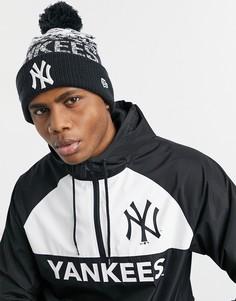 Черная спортивная шапка-бини New Era NY-Черный цвет