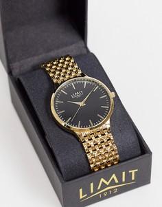 Золотистые часы-браслет с черным циферблатом Limit-Золотистый