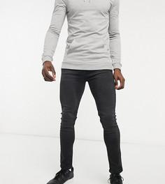 Зауженные джинсы черного винтажного цвета Bolongaro Trevor Tall-Черный цвет