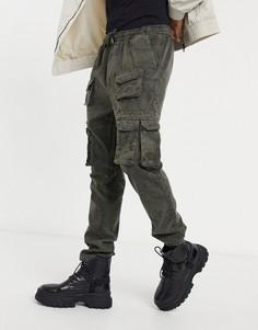Серые брюки карго с карманами спереди Brave Soul-Серый