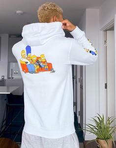 Худи белого цвета с принтом на спине Vans X The Simpsons-Белый
