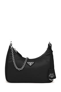 Черная сумка со съемным футляром Re-Edition 2005 Prada