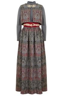 Платье и жилетка из шерсти Teal Traina New York