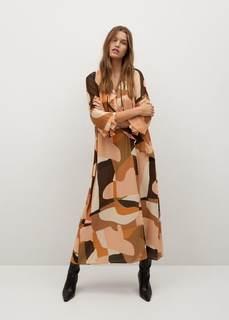 Струящееся платье с принтом - Paloma-a Mango