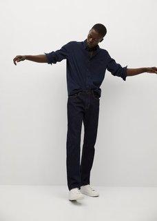 Рубашка regular fit из микровельвета - Tadi Mango