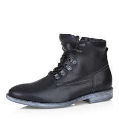 Кожаные ботинки в черном цвете Respect