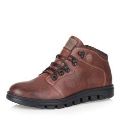 Коричневые кожаные ботинки на шерсти Respect