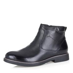 Черные ботинки без шнуровки на меху Respect