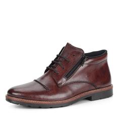 Коричневые кожаные ботинки на шерсти Rieker