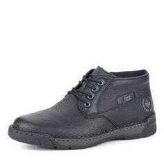 Черные кожаные ботинки на шерсти Rieker
