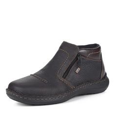Коричневые ботинки без шнуровки Rieker