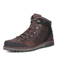 Коричневые кожаные ботинки Nine Lines