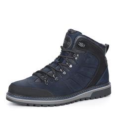 Синие кожаные ботинки на шнуровке Nine Lines