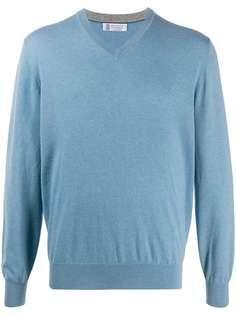 Brunello Cucinelli свитер с V-образным вырезом