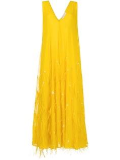 Emilio Pucci вечернее платье с перьями