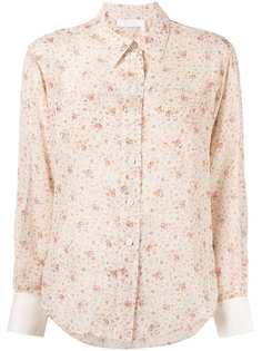 Chloé рубашка с цветочным принтом