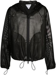 Bottega Veneta куртка с капюшоном и перфорацией