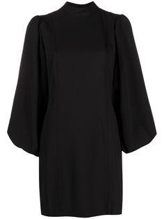 GANNI коктейльное платье с пышными рукавами