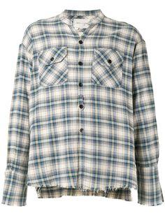 Greg Lauren клетчатая рубашка с длинными рукавами