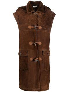 A.N.G.E.L.O. Vintage Cult пальто 1980-х годов без рукавов с меховой вставкой