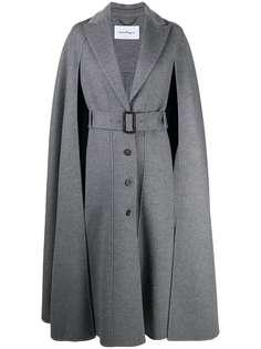 Salvatore Ferragamo пальто с кейпом и поясом